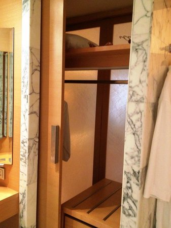 Grand Hyatt Singapore: Direct access to the wardrobe from the bathroom