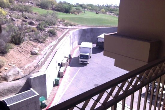 The Phoenician, Scottsdale: Lovely balcony view of the loading dock