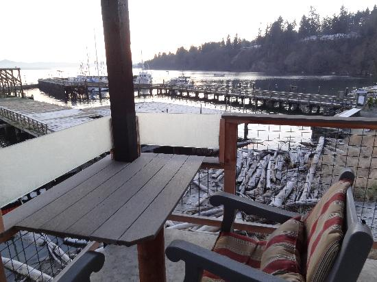 Boatyard Inn: View from deck of Driftwood Suite