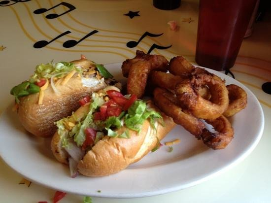 Boyertown, PA: jerk chicken subs with onion rings