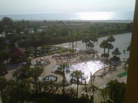 Sheraton Sand Key Resort: Overlooking the pool/beach