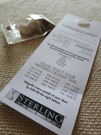 Sterling Inn & Spa: Breakfast selection