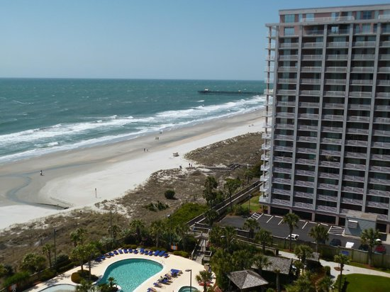 Hilton Myrtle Beach Resort: from patio 11th floor looking south