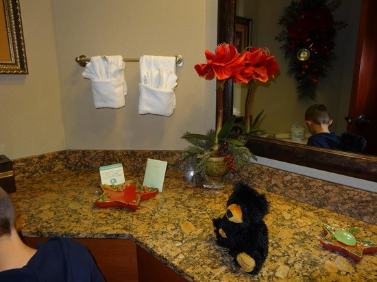 The Inn at Christmas Place: Bathroom - VERY CLEAN and spacious!