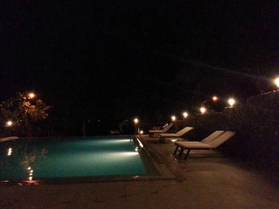 Palm Beach Resort: Infinity pool at night
