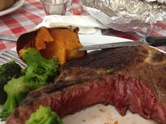 Rifle, CO: Delicious T-bone steak