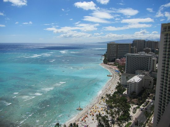 Aston Waikiki Beach Tower: 西側の眺め