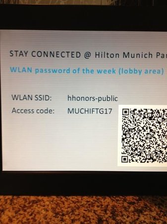 Hilton Park Munich: good High Speed wifi in Lobby