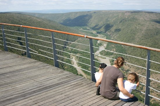 Mvubu River Lodge: Ausblick auf den Great Fish River...