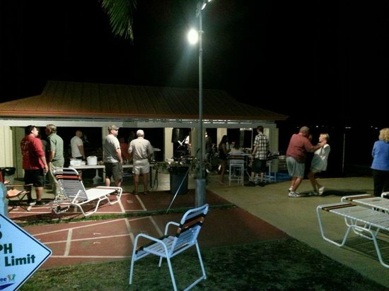 Riptide RV Park & Motel: One of the many fun activity evenings at the pavilion.