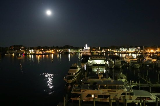 Annapolis Marriott Waterfront: Moon rise