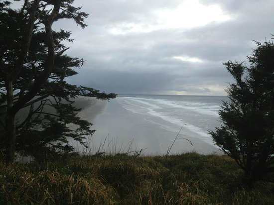 Lighthouse Oceanfront Resort: this is a view from the lighthouse at Cape Disappointment near Long Beach