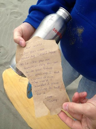Long Beach, WA: look what we found washed up on the beach..