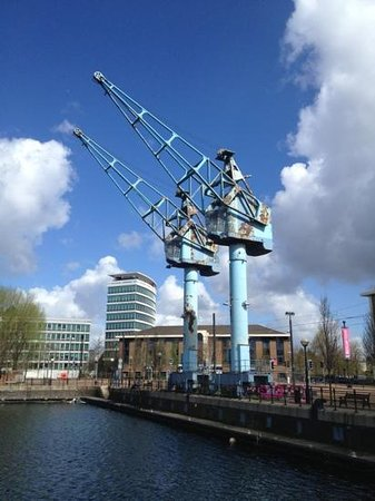 Eccles, UK: The old cranes on Salford Quays