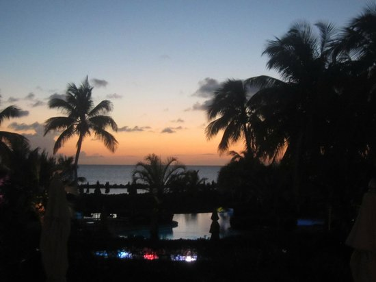 Four Seasons Resort Nevis, West Indies: Sunset view from lobby