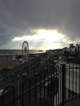Drakes Hotel Brighton: view from our room