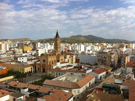 Salles Hotel Malaga Centro: This a view of Malaga from the roof top