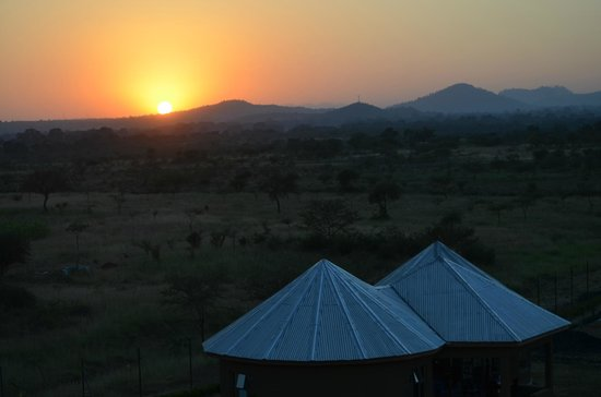 Arusha Region, Tanzania: Sunrise over the lodges