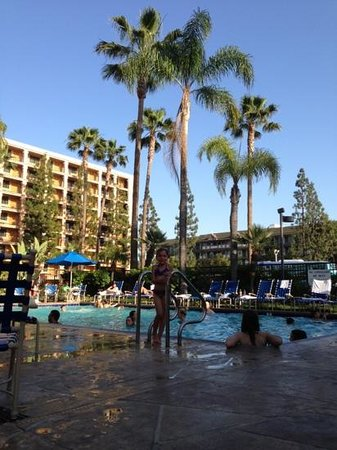 Fairfield Inn Anaheim Disneyland Resort: poolside break from day at Disney