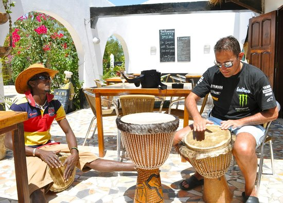 Brufut, Gambia: Afternoon drumming session with Mohammed
