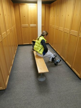 Solitude, UT: Well above-average ski lockers at the Inn