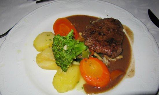 Bahia Principe San Juan: Steak au poivre at the mediterranean restaurant