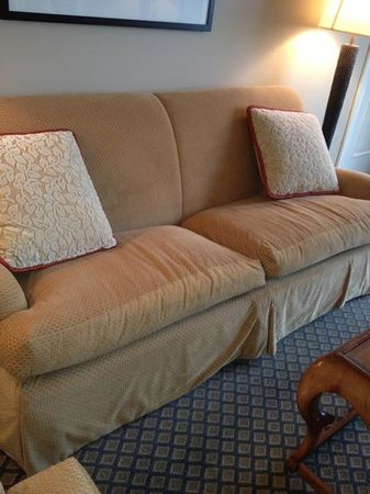 The Ritz Carlton Half Moon Bay: some frat is missing a couch!