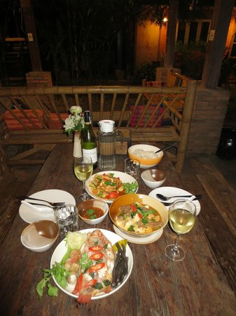 BaanBooLOo Traditional Thai Guest House: Result of cooking with Omn