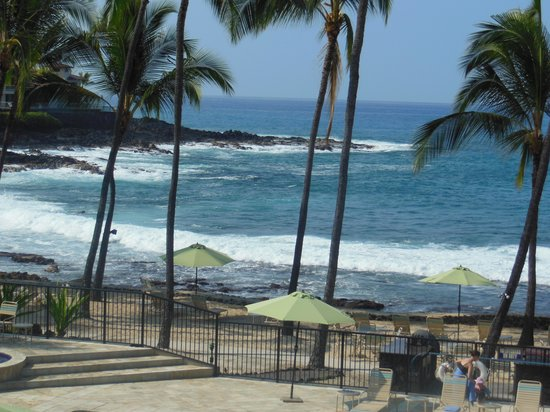Aston Kona by the Sea: View from our Lanai