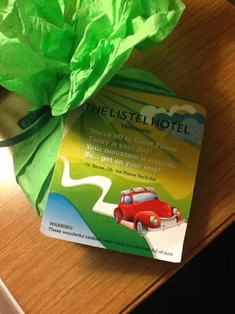 The Listel Hotel Vancouver: it makes you want to around and check back in!  how cute is that!