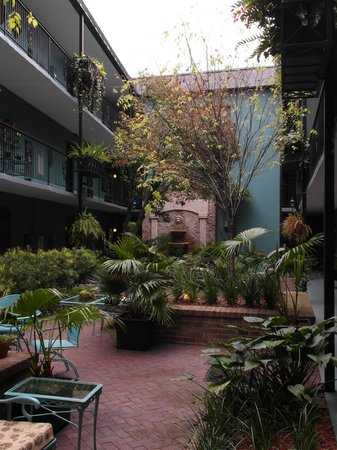 Indigo Inn: Courtyard