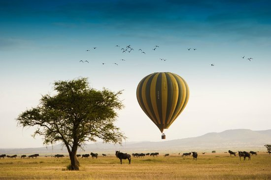 Hot air ballooning is just one of the activities to enjoy at Singita Sabora Tented Camp.