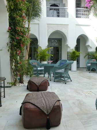 Riad Idra: The courtyard in daytime