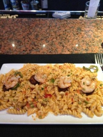 Carle Place, NY: jambalaya with pasta, very tasty
