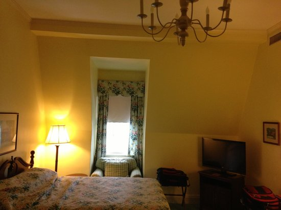 The Otesaga Resort Hotel: The one window in the room.