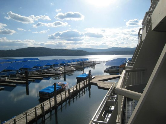 The Coeur d'Alene Resort: on the balcony