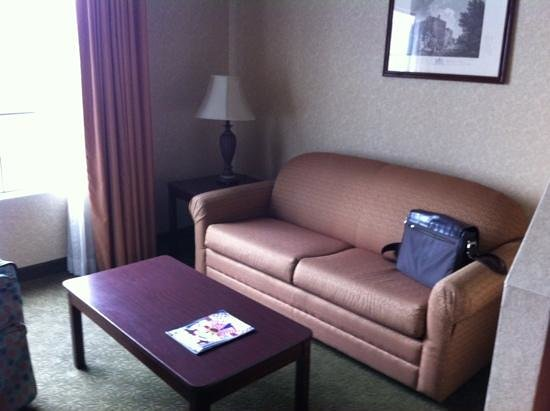 Castle Inn and Suites: Couch in Executive Suite.