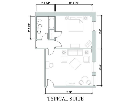 Commonwealth Park Suites Hotel: Suite Floor Plan