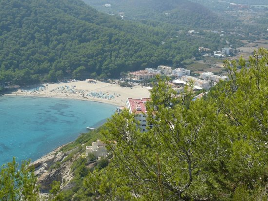 Caribe Ibiza Hotel: View From Mountain Of Cala Llonga