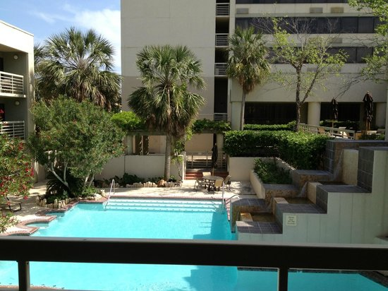 Hilton College Station & Conference Center: View From Cabana Room