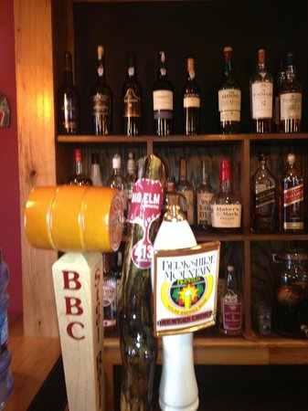 , : local beers on tap change seasonally