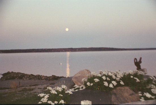 Deer Isle, Мэн: October view, harvest moon