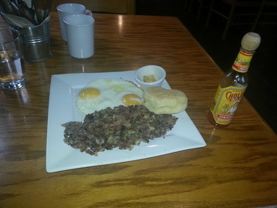 Occidental, CA: Corned beef hash with biscuit