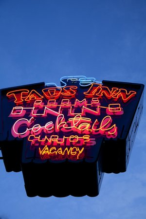 Historic Taos Inn: The Famous Neon Sign - The Oldest in Taos County!