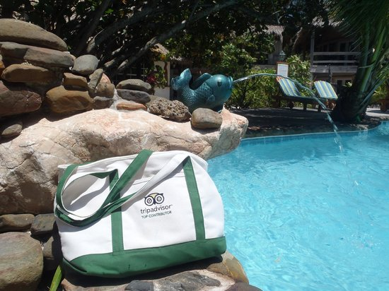 Xanadu Island Resort Belize: My TripAdvisor bag got a good workout this trip!