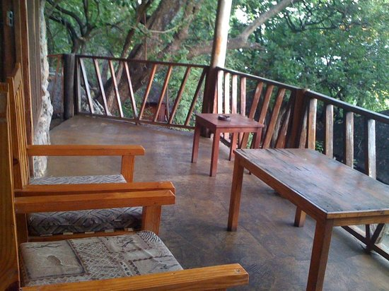 Salima, Malawi: Front porch of the gazebo