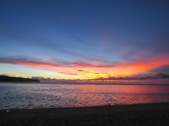 Savaii Lagoon Resort: Magnificient Savaii sunset