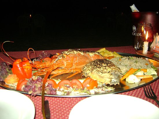 Majorda, India: Lobster and Crab - fantastic food