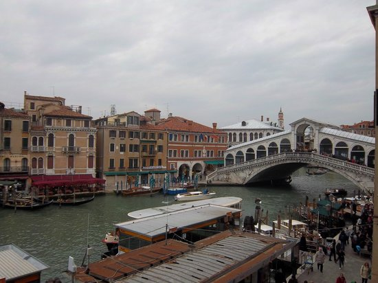 Hotel Rialto Venezia : View from the panoramic rooftop at the hotel