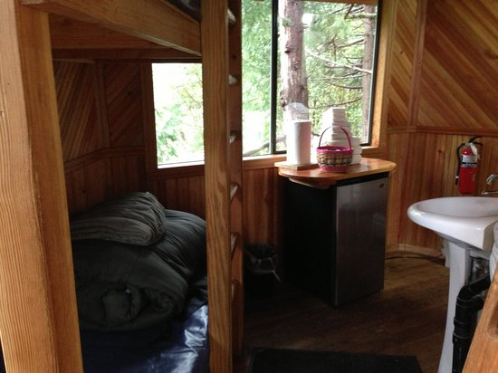 Out 'n' About Treehouse Treesort: Tight quarters in this space